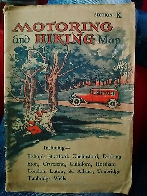 Motoring And Hiking Map Section K vintage