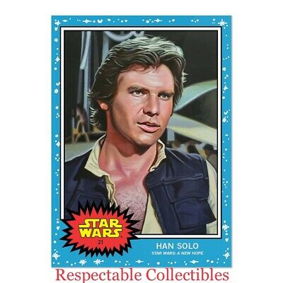 Han Solo - Topps Star Wars Living Set Card #21 - Episode IV A New Hope