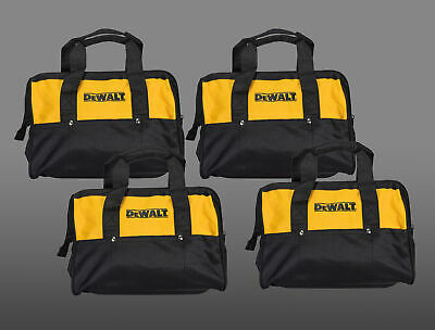 """Dewalt Tool Bag for power tools 12"""" yellow and black with nylon zipper 4 Pack"""