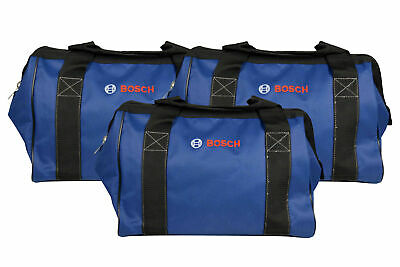 Bosch CW01 15inch Contractor Tool Bag with durable handles and zipper 3 Pack