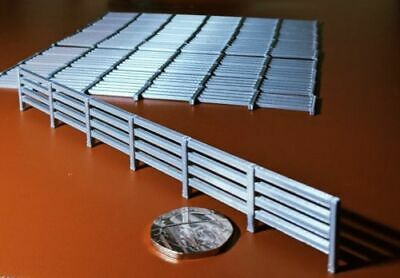 Scenery 1:76 OO gauge FENCING -10 PACK- UK [Model Railway] -Silver  *1.5 metres*
