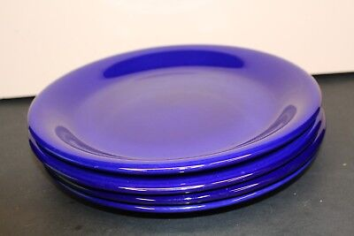 La Primula Made In Italy Hand Painted Blue Vintage Dinner Plates Lot of 4