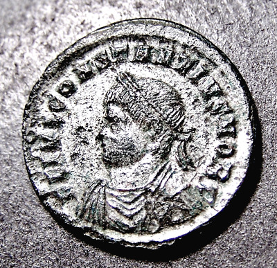 CONSTANTIUS II, All Along the Watchtower, RARE Silvered Imperial Roman Coin