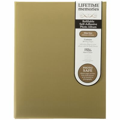 Bulk Buy - 4 x NCL 20 Page Refillable Self Adhesive Photo Album A4 Gold