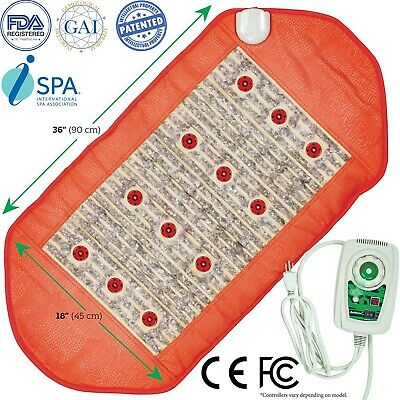 HealthyLine Amethyst Heating Healing Mat with Photon Negative Ions FIR Pad