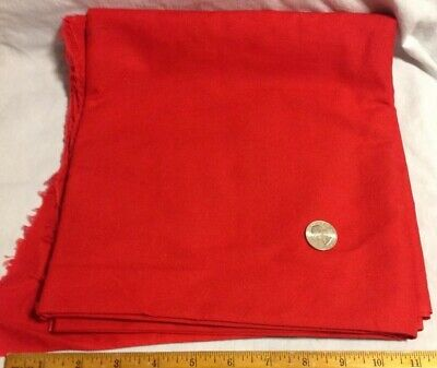 """Vintage Cranston Print 44""""X 3-1/2- yards Solid Red Quilting Sewing Material"""