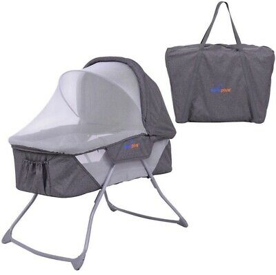 Lightweight Rocking Bassinet With Cover Carry Bag Included