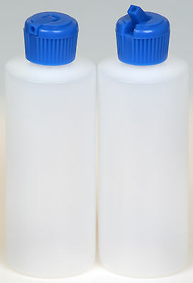 Plastic Bottle w/Blue Turret Lid, 4-oz., 100-Pack, New