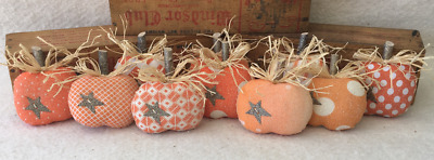 Primitive Ornies PUMPKINS Fall Thanksgiving Mini Bowl Fillers Make Do's Tucks