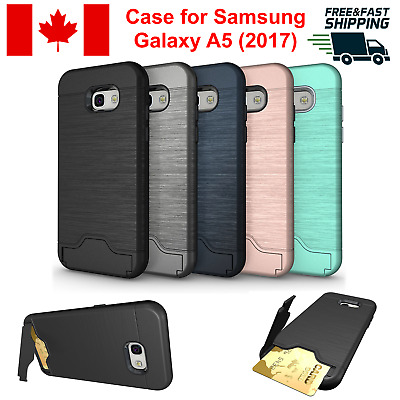 For Samsung Galaxy A5 2017 Case Cover Card Slot Kickstand Shockproof Rugged Hard