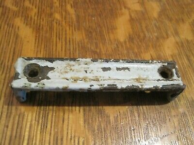 Antique Cast Iron Rim Lock Striker Plate 4 1/8 INCH Door Keeper Latch 13