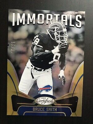 2018 Panini Certified Mirror Gold /25 #133 Bruce Smith Immortals Buffalo Bills
