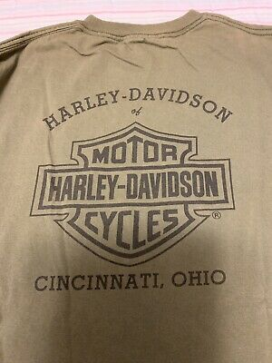 Men's HARLEY DAVIDSON CINCINNATI OHIO Graphic T Shirt MOTORCYCLES Size XXL