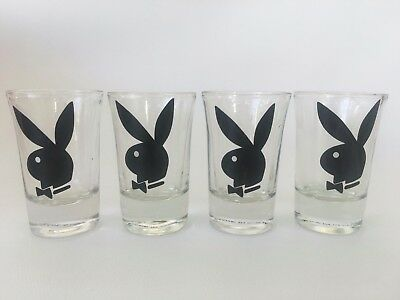 4 Playboy Shot Glasses - 7cm tall