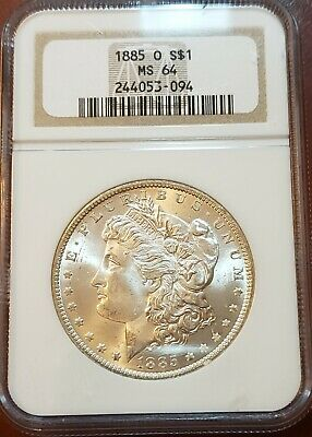 1885 O Ms64 Vintage Ngc Frosty White Gem Wow!! Gorgeous Morgan Silver Dollar