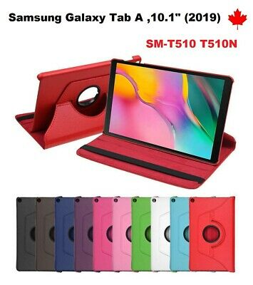 """For Samsung Galaxy Tab A 10.1"""" (2019) SM-T510, 360° Leather Stand Case Cover"""