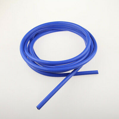 "New High Performance 4mm (5/32"") Silicone Vacuum Hose Blue Pipe 10 Feet Length"