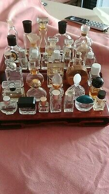Lot of 35 Vintage Miniature Perfume Bottles