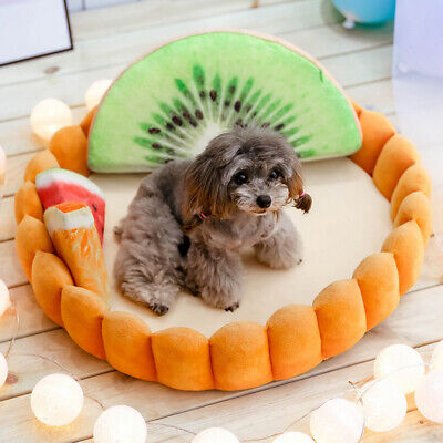 Pet Dog Cat Bed Kennel Egg Tart Styling Cushion Seat Sleeping Fruit Toy Mat BY