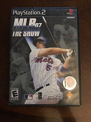 MLB 07 The Show Sony Playstation 2 Ps2 Complete