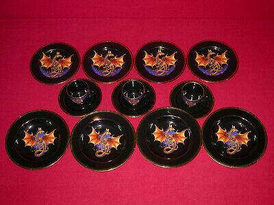 Dragon Dynasty Fine China By Franklin Mint Dinnerware Set Plates Bowls Cups Lot