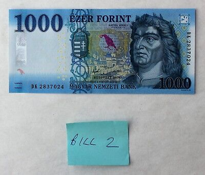 1 x 2017 1000 Forint Hungary UNC; Consecutive Serial #s Available