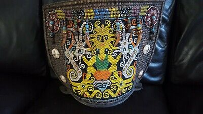 Antique Borneo Indonesia Traditional Dayak Beaded Baby Carrier