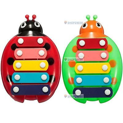 HOT Baby Child Kids 5-Note Xylophone Musical Toys Wisdom Development Beetle BT