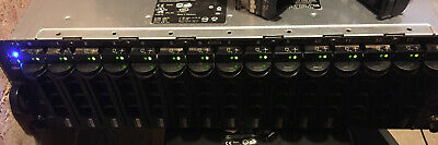 Dell PowerVault MD1000 SAN Array 15 x SAS HDD Storage 2 x SAS Controllers