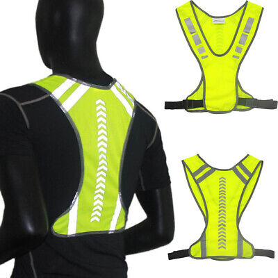 Outdoor Safety Reflective Cycling Harness Night Running Vest Jogging Vest