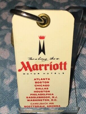 Vintage Marriott Motor Hotel Room Key And Fob. Chicago, Illinois Rm 1011