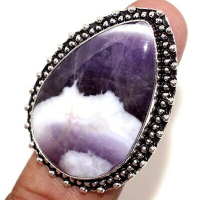 D16031 Amethyst Lace 925 Sterling Silver Plated Ring Us 9