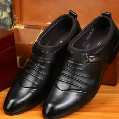Men Dress Formal Oxfords Leather Shoes Pointed Shoes Casual Business Size 6-11
