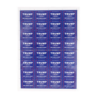 32pcs President Donald Trump Keep America Great Face Clothes Body Blue Stickers