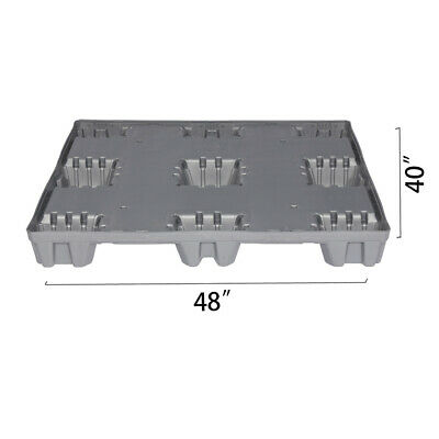 "48"" x 40"" x 5.9"" Plastic Pallet Pack Container Base"