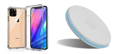 IPhone 11 11Pro X XR XS Case w/ Qi charging pad Combo Pack