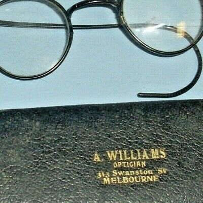Old Shabby Vintage Black Frame Glasses -Harry Potter Style +Interesting Case