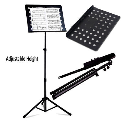 Adjustable Height Heavy Duty Folding Orchestra Band Sheet Music Stand Accessory