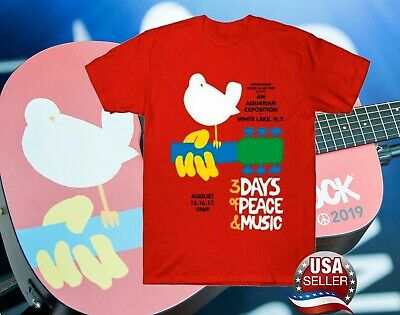 Woodstock 50Th Anniversary 1969-2019 Music T-Shirt Vintage Shirt Red For Fan