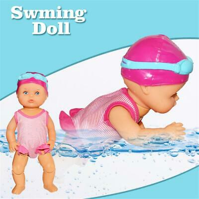 Electric Swimming Doll Waterproof Breaststroke Beach Float Water Baby Toys Gifts
