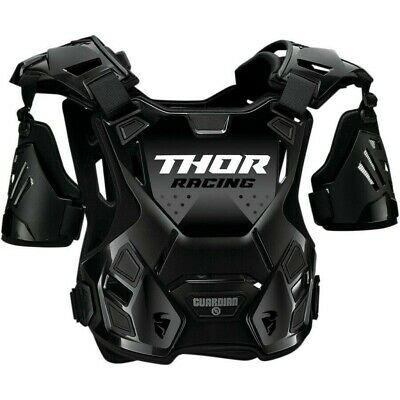 Thor Guardian Motocross Chest Protector Body Armour with Arm Guards Black Adults
