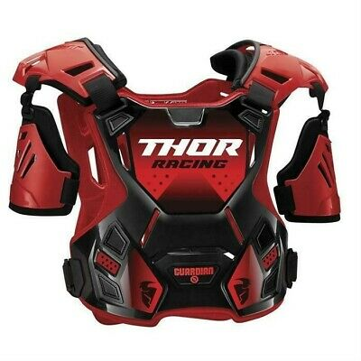 Thor Guardian Motocross Chest Protector Body Armour with Arm Guards Red Adults