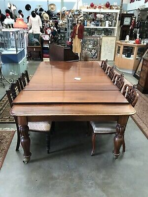 Antique Mahogany Dining Table - Victorian Extending Circa 1870
