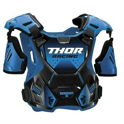 Thor Guardian Motocross Chest Protector Body Armour with Arm Guards Blue Youth