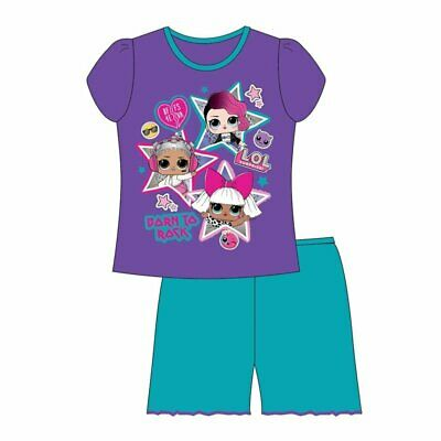 Girls Kids Official LOL Surprise Short Sleeve Pyjamas