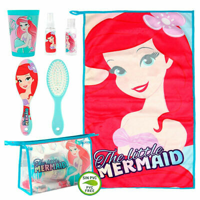 Children's Official Disney Little Mermaid Ariel Toiletry Travel Bag Set