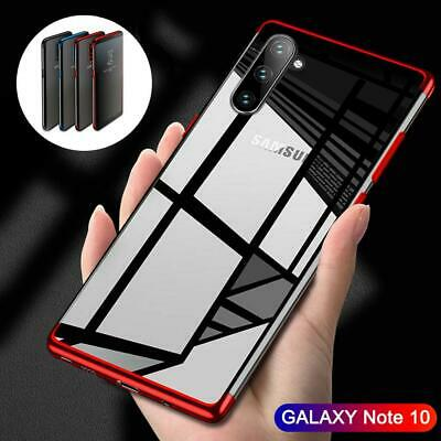 For Samsung Galaxy Note 10Plus Shockproof Plating Rubber Clear Slim Case Cover