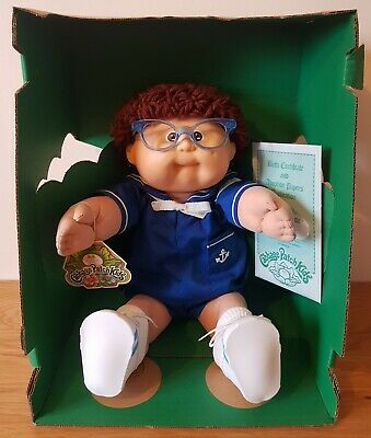 Vintage Cabbage Patch Kids Doll - Rare Boy With Glasses - Mint From Box.