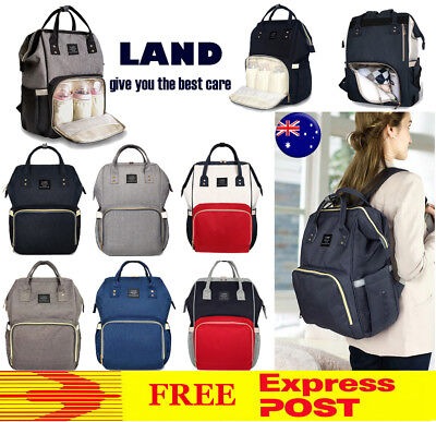 GENUINE LAND Multifunctional Mummy Backpack Diaper Nappy Changing Bag FASTEST!!!