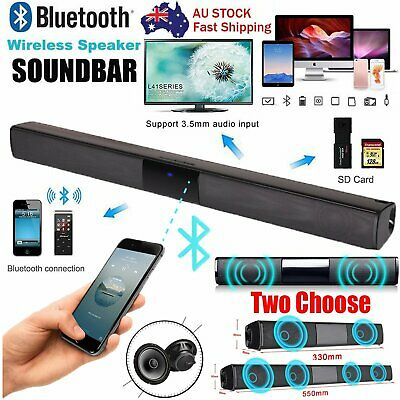 Bluetooth Wireless Soundbar TV Speaker Home Theater Sound Bar HiFi Subwoofer AU